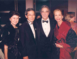 Mr. & Mrs. Masaharu Kohno, Placido Domingo, Helma C. Bloomberg