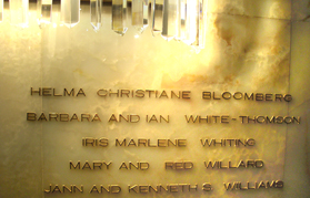 Donor Wall at the LA Music Center